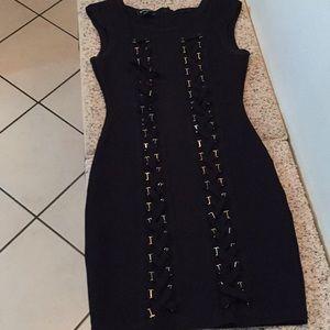 Bebe small petite black dress